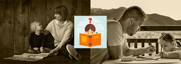 Parents élevant leurs enfants grâce au congé parental d'éducation